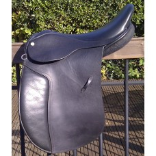 "Barrie Swain SemiFlex 17"" Holistic Working Hunter Saddle, Black"