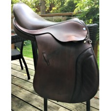 "Michael Peace SemiFlex GP 17.5"" Saddle, Brown - SOLD"