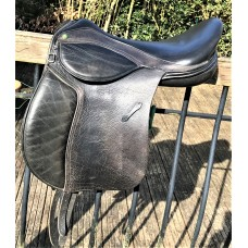 "Mondial Industries Holistic Supreme Flexion 18"" Treeless GP Saddle, Brown"