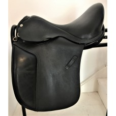 "Barrie Swain SemiFlex 17"" Holistic Dressage Saddle, Black"