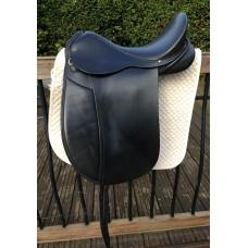 """Frank Baines Capriole Dressage Saddle, Black 17.5"""" - SOLD"""