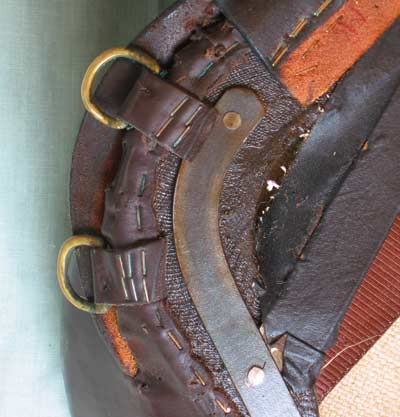 Untrimmed leather attachments