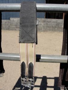 Neoprene backed long girth